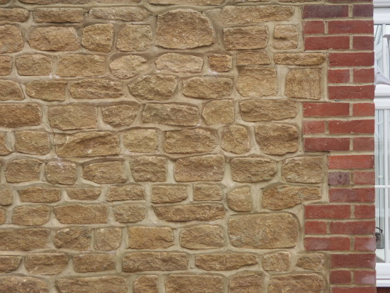 Golden Brown Limestone Random Walling