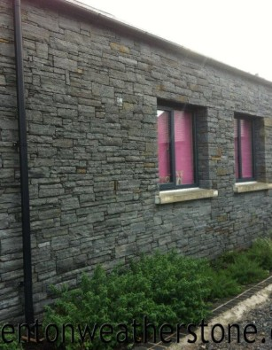 Ardglas Black Cropped Slate Walling