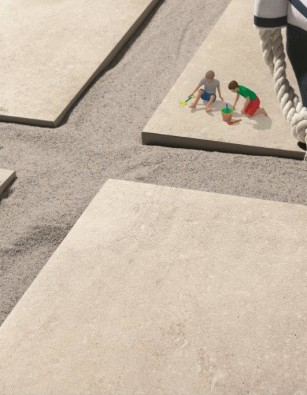 Bianco Italian Porcelain Outdoor Paving 600 x 600mm
