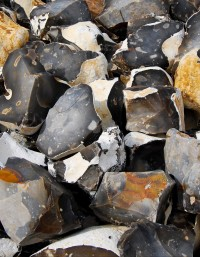 Knapped Chalk Flints