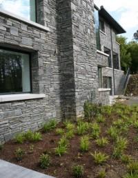 Grey Slate Random Garden Walling